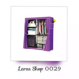 Lemari Rak Baju Pakaian Portabel Serbaguna // Zouleree QL 11123