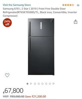 Samsung 670 ltr with big discount price