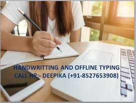 Handwriting work from home-Part time