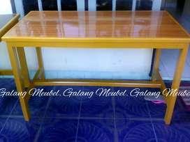 Meja makan ukuran 60x120 cm tinggi 75 cm