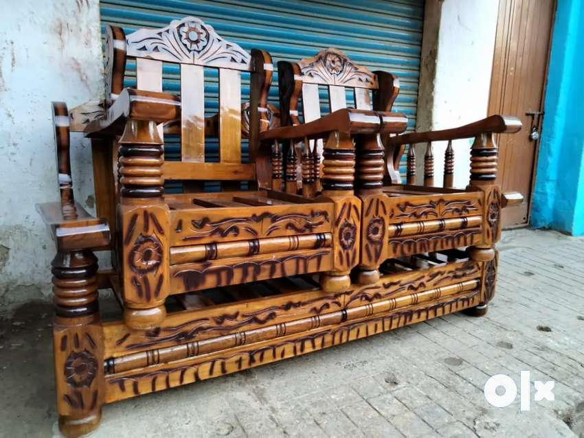 {3 +1 +1} PURE mysore teakwood Brand new wooden sofa set with cushion