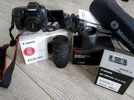 Canon 80d camera all accessories complete box