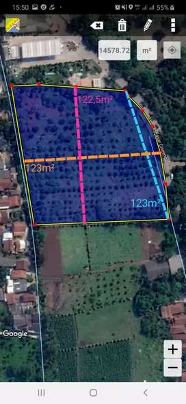 Dijual tanah 1,4ha diciseeng-parung