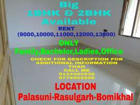 1BHK OR 2BHK House(9000 TO 13000) Available Near NH Bomikhal
