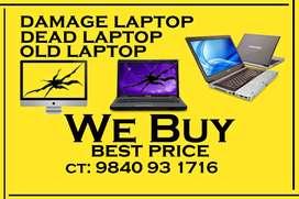 dead laptop /  Broken laptop