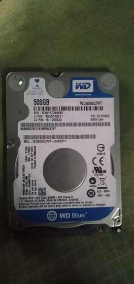 Jual cepat hard disk laptop 500 gb area jogja
