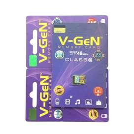 B A R U MICRO-SD Vgen 8gb 4gb Original Bergaransi RESMI Life Time