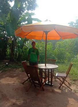 Meja cafe,meja payung jati,meja taman jati,kursi lipat,meja outdoor