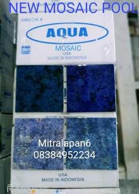 Obral keramik mosaic khusus kolam renang