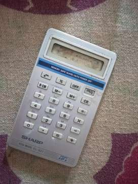 Sharp EL-827 Antique Calculator 1981