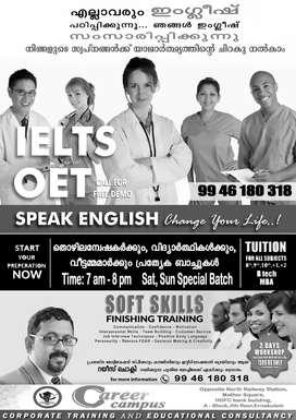 IELTS/OET/SPOKEN ENGLISH at Ernakulam.Kochi