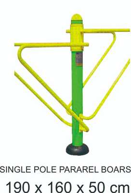 Single Pole Pararel Bars Outdoor Fitness Termurah Garansi  1 Tahun