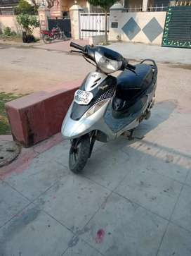 TVS, Scooty,Pep+,silver,and black colour,first party,tyers good condit