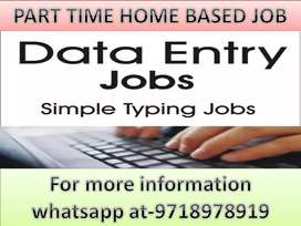 Guaranteed Typing job Part Time Data Entry Job Home based work