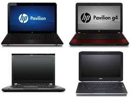 hp n dell dual core laptop available with warranty only at 9000