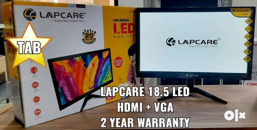 "NEW LAPCARE LED MONITOR 18.5"" HDMI+VGA, 3YRS WARRANTY N BILL"