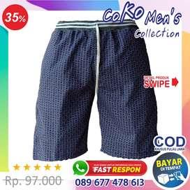 [BAYAR DI TEMPAT] celana pendek pria kolor keren murah - kanvas KV1