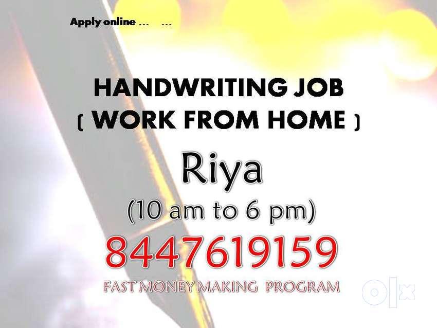Work from home Simple Novel Handwriting Job 0