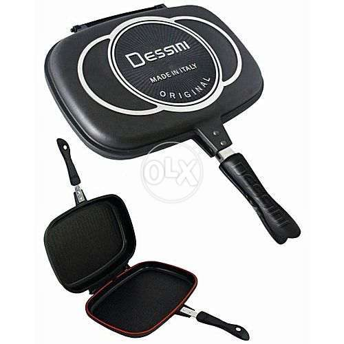 Non Stick Double Sided Grill Pan 0