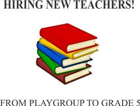 Female teachers required for play group to grade 5.
