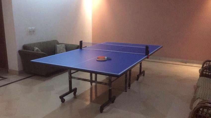 Table Tennis Table with wheels on