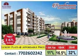 1Bk ,1Bhk& 2Bhk flats for Sale @ Gannavaram vth PMAY 2.67L*