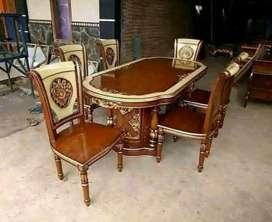 kursi makan meja laku