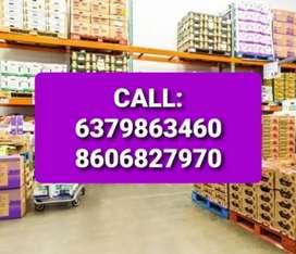 Wanted daily wages male staffs for warehouse