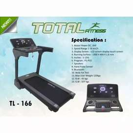 Ready treadmill elektrik komersil TL 166 3hp auto incline sangat mewah