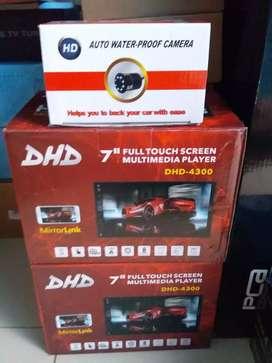 Head unit doubledin DHD terbaru + kamera mundur