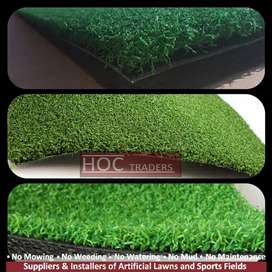 Green artificial grass or astro turf