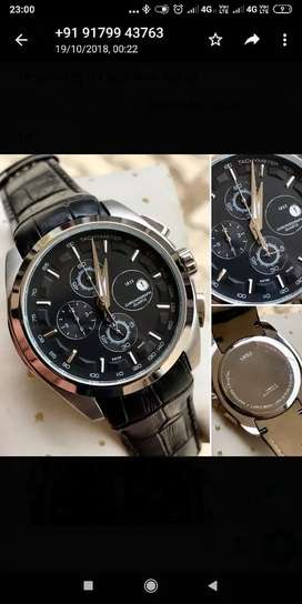 Branded chronograph leather watches CASH ON DELIVERY price negotiable