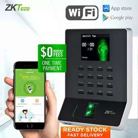 Zkteco Biometric time attendance machine with mobile app & PC software