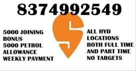 SWIGGY DELIVERY BOYS/DAILY PAYMENT AND INCENTIVES