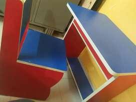 Children study table + chair