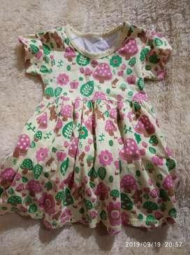 Dress bunga anak cewek santai bagus 3 tahun