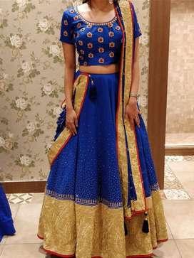 Bridal Lehenga - Royal blue