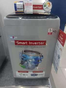 Kredit mesin cuci top loading 9Kg proses 3menit bayar adm 199