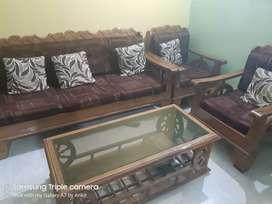 Sagwan sofa set 5 seater