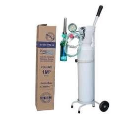 Tabung Oksigen 1m3 + Regulator + Selang Masker