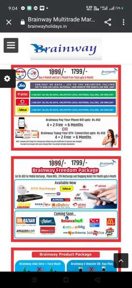 Very good opportunity for get a franchise of All Telecom  recharge