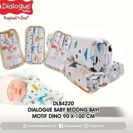 Dialogue Baby Bedong Bayi Motif  Katun Isi 3 Pcs DLB220 90X100 Cm