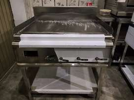 Hot plate 3 feet stainless steel commercial used pizza oven