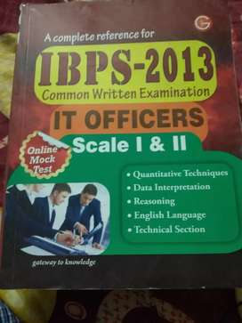 IBPS-2013.  IT OFFICER SCALE -1 & 2