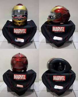 Helm HJC Marvel edisi Iron Man Fullset Mulus Size M