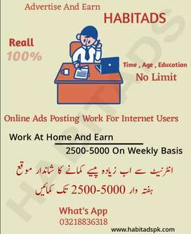 Data entry work for males and females