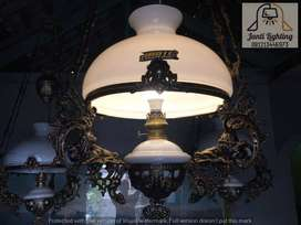 Lampu gantung katrol antik single kerek betawi dekorasi lampu repro