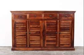 4 Door Shoe Rack. Solid Sheesham Wood. Brand new PepperF Piece.