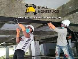 Perkuatan perbaikan struktur beton, dengan serat Carbon FRP injeksi