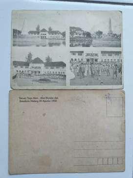 Dijual  kartu pos gambar soekarno 1950